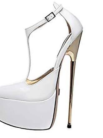 76b8f02f339324 Giaro Hero 1002 High Heels in Übergrößen Weiß große Damenschuhe