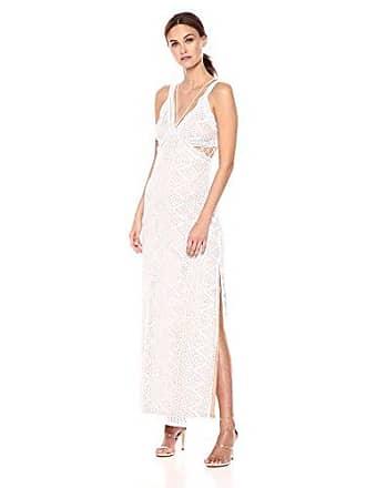 Guess Womens Sleeveless Gianna Lace Maxi Dress, Brilliant White, XS