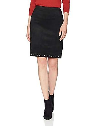 Karen Kane Womens Studded Faux Suede Skirt, Black, Small