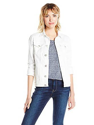 Hudson Womens The Classic Denim Jacket, White Vintage, Medium