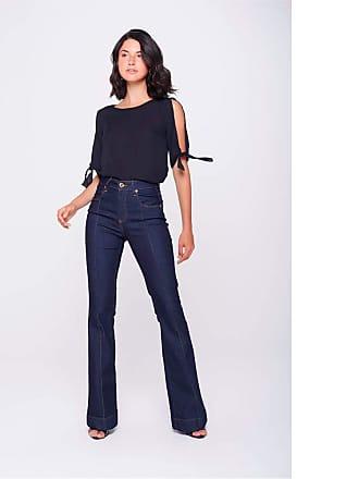 Damyller Calça Boot Cut Jeans com Friso Tam: 44 / Cor: BLUE