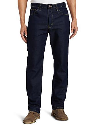 a9102da4 Lee Lee Mens Regular Fit Straight Leg Jean, Indigo Stretch, 38W x 36L
