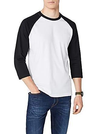 69b39250ad363 Urban Classics T-shirt à manches longues pour homme Multicolore (Blanc/noir)