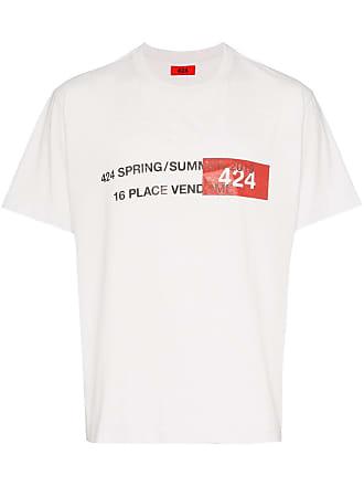 424 Camiseta com estampa Address - Branco