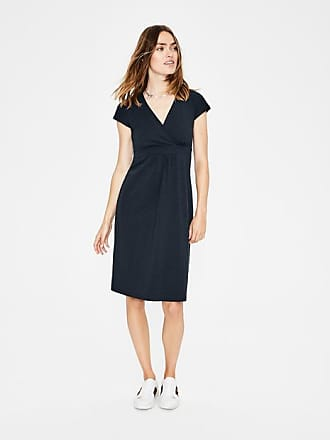 Boden Casual Jersey Dress Navy Holiday Palm Women Boden
