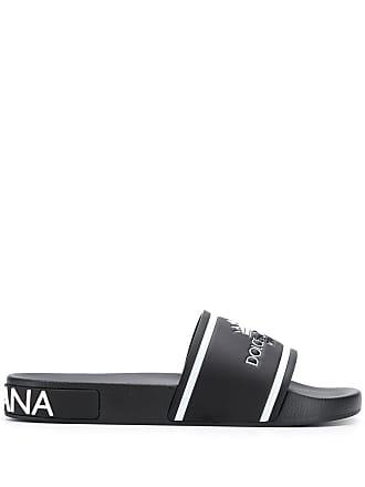 badae24d15cc Dolce   Gabbana brand embossed slides - Black