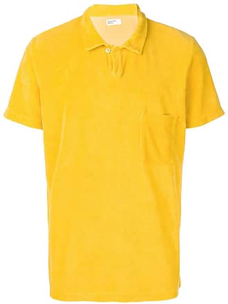 Universal Works Vacation fleece polo shirt - Amarelo