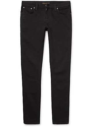 Nudie Jeans Skinny Lin Organic Stretch-denim Jeans - Black
