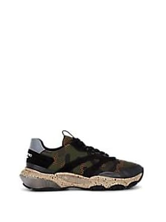 Valentino Mens Bounce Camouflage Sneakers - Green Size 9.5 M