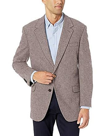 U.S.Polo Association Mens Portly Wool Blend Sport Coat, Brown Herringbone, 54 Short