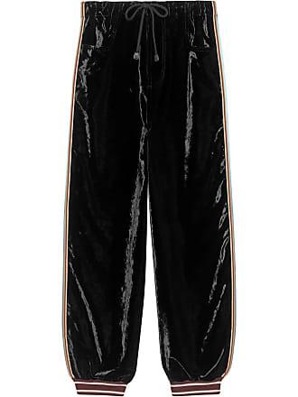 56b66274f91a4 Gucci Bi-material jogging pant - Black