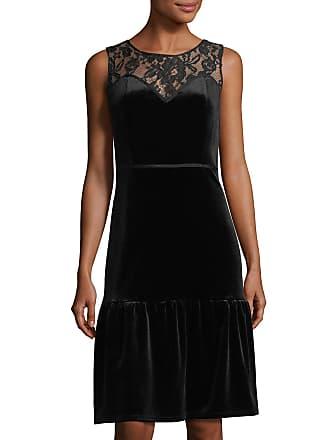 Nanette Lepore Velvet And Lace Sweetheart Illusion Dress