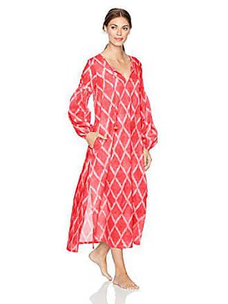 Natori Womens Printed Woven Sleepshirt, Tigerlily, XS