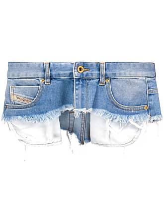 Diesel distressed mini skirt belt - Blue