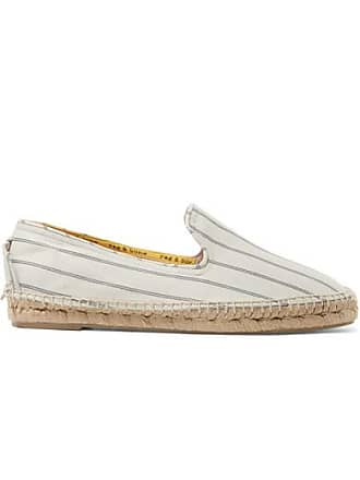 Rag & Bone Del Rey Striped Canvas Espadrilles - Off-white