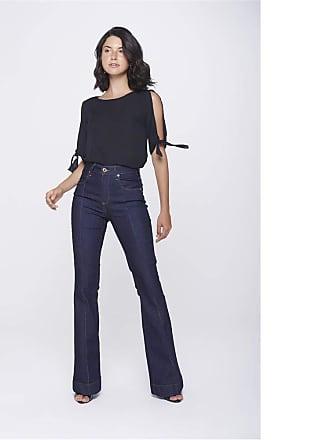 Damyller Calça Boot Cut Jeans com Friso Tam: 42 / Cor: BLUE