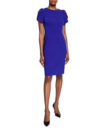 Iconic American Designer Tulip Sleeve Sheath Dress