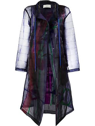 Quetsche abstract pattern coat - Black