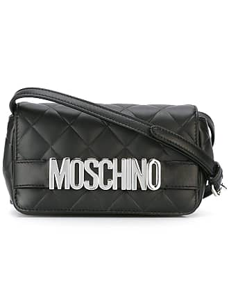 Moschino quilted logo crossbody bag - Black