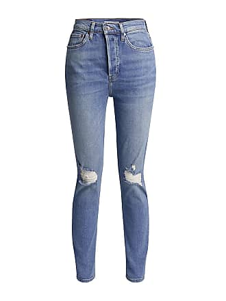 Re/Done Ultra High-rise Comfort Stretch Distressed Skinny Jeans Light Blue