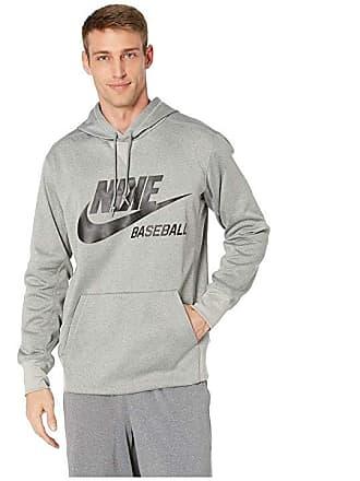 e7b621cdd7b0 Nike Baseball Hoodie (Dark Grey Heather Black) Mens Sweatshirt