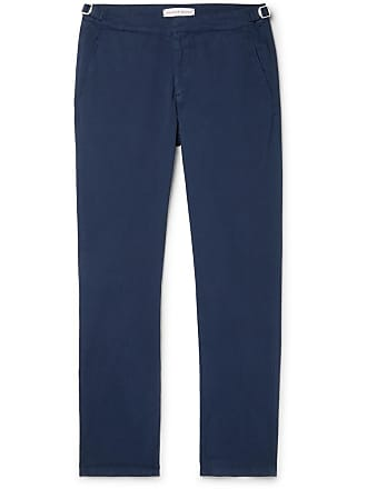 Orlebar Brown Navy Campbell Cotton-blend Twill Trousers - Navy