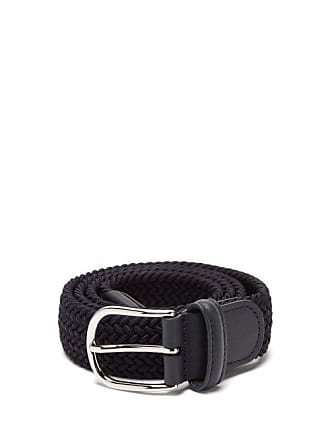 Anderson's Woven Belt - Mens - Navy Multi