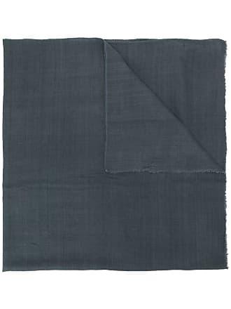 Isabel Marant Echarpe de seda com acabamento desfiado - Cinza