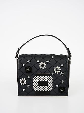 165e28604ce Roger Vivier Leather MADAME VIV DIADEM FLOWER Shoulder Bag with Embroider  size Unic