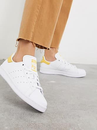 adidas Originals Stan Smith sneakers in white and yellow