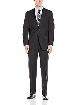 Jones New York Mens Classic Fit Charcoal Solid Suit, 40 Long