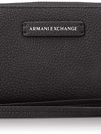 A X Armani Exchange Fabric Round Zip, Womens Wristlet, Blue (Navy), 11x2x20 cm (B x H T)