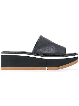 Robert Clergerie slip-on platform sandals - Black