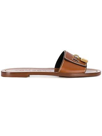 Tom Ford padlock detail sandals - Brown