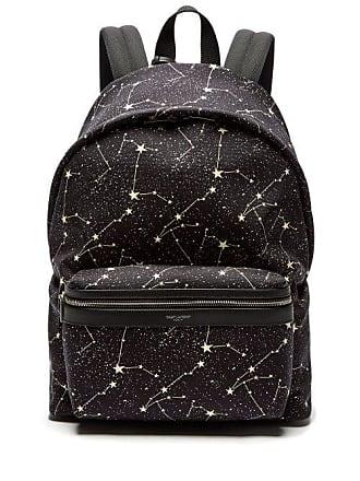 794a9e9b7d40 Saint Laurent City Constellation Print Canvas Backpack - Mens - Black