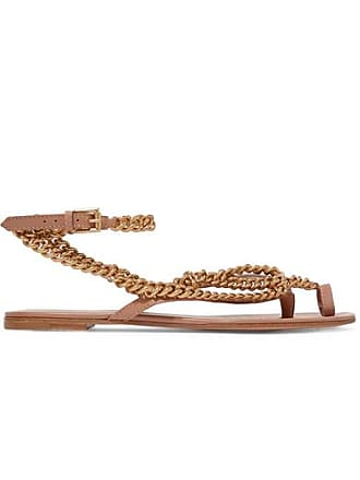 c7017f236466a8 Black Jeweled Sueded Strap Flat Thong Sandals. USD  258.00. Delivery   Delivery costs apply. Gianvito Rossi Embellished Leather Sandals - Neutral