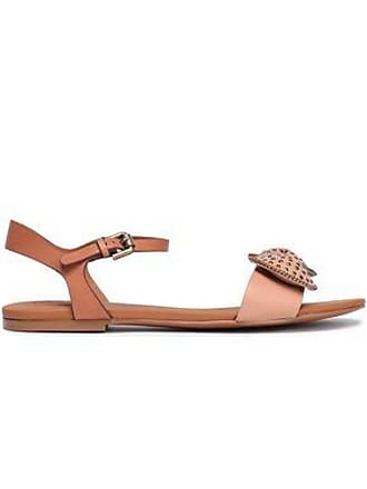 9be666d2e352 See By Chloé See By Chloé Woman Studded Bow-embellished Leather Sandals  Blush Size 35