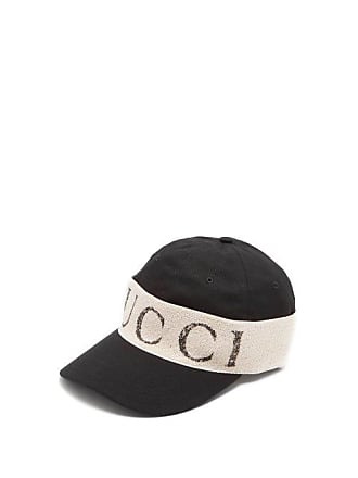77b145f18 Gucci Logo Print Cotton Cap - Mens - Black