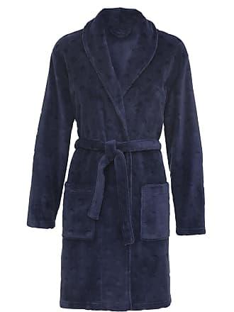 474f0cfde91 HEMA Dames Badjas Fleece Donkerblauw (donkerblauw)