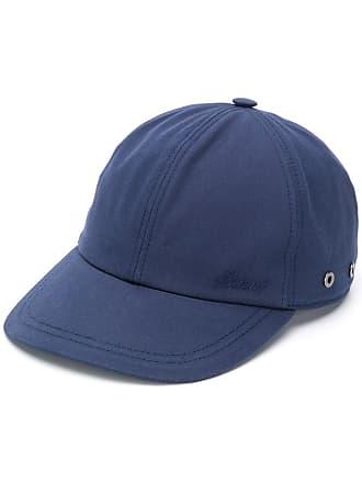 Brioni Chapéu com logo bordado - Azul