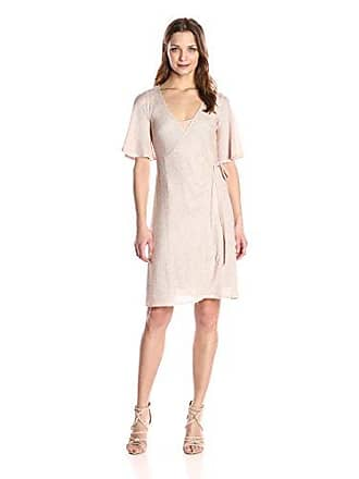 Only Hearts Womens Phoebe Wrap Dress, Sand, M