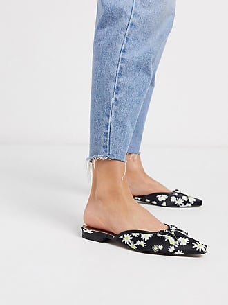Asos Light bow mules in daisy print-Multi