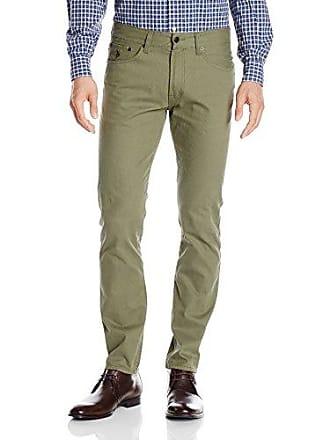 U.S.Polo Association Mens Corduroy Skinny Fit 5 Pocket Jean, Olive Dusk, 38x32