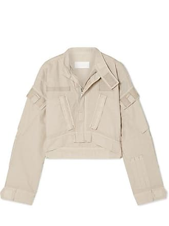 Re/Done Cropped Cotton-ripstop Jacket - Beige