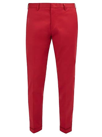 Paul Smith Classic Stretch Cotton Chino Trousers - Mens - Red