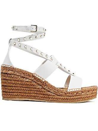 590634bcefc2 Jimmy Choo London Jimmy Choo Woman Danica Studded Leather Wedge Espadrille  Sandals White Size 36
