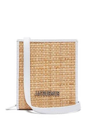 Jacquemus Le Gadjo Xs Straw Necklace Bag - Mens - Beige