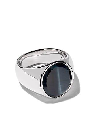 Tom Wood oval blue hawk eye ring - Silver