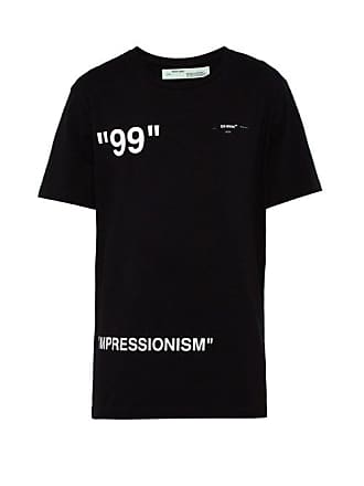 Off-white Off-white - Ice Man Print Cotton T Shirt - Mens - Black