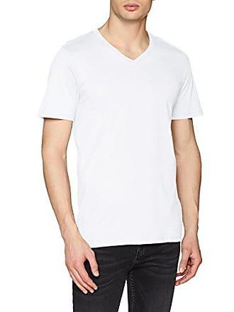 0f17f10ad3f084 Jack   Jones Herren T-Shirt JJEPLAIN Tee SS V-Neck NOOS Weiß (